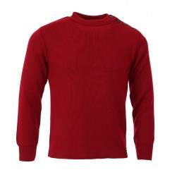 Pull marin national mixte - Rouge