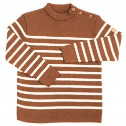 Pull marin Tim kid enfant orange/écru