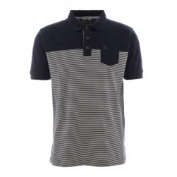 Polo homme manches courtes rayé Gaby