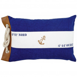 Coussin marin marinière ancre
