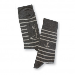 Chaussettes rayures ancre