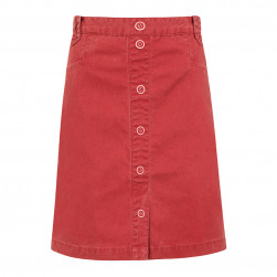 Jupe en coton canvas Klarinette - rouge