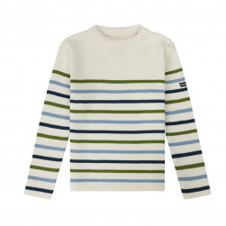 Pull marin Tim kid enfant écru/multicolore