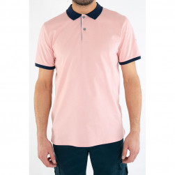 Polo uni confort rose