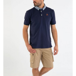 Polo homme maille piquée