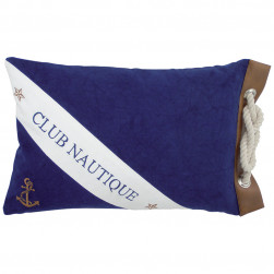 Coussin rectangle d'inspiration nautique