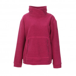 Polaire poches ventrales rose
