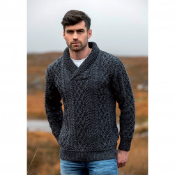 Pull col ouvert homme