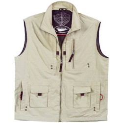Gilet multipoches beige Taille 5 (XL)