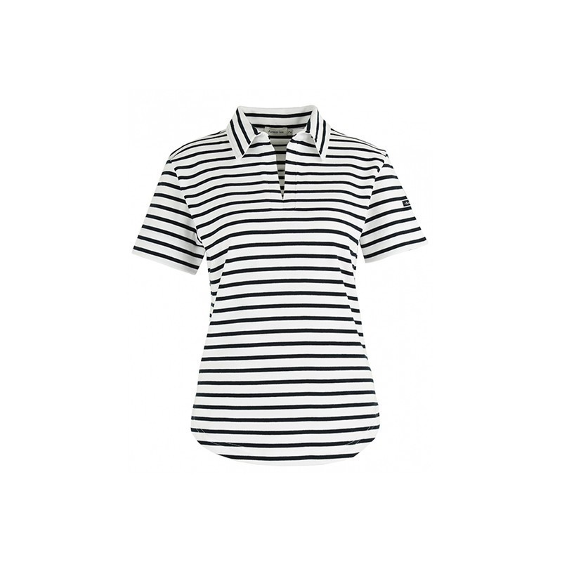 Polo Quille femme blancmarine